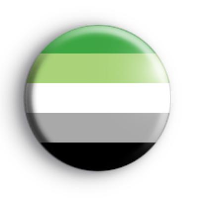 Aromantic Pride Flag Badge