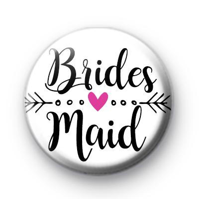 Arrow Bridesmaid Wedding Button Badges