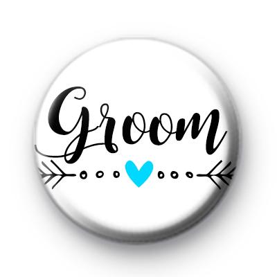 Arrow Groom Wedding Badges