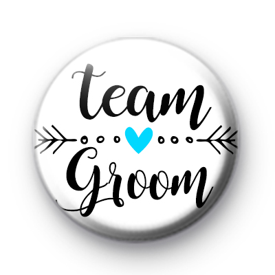 Arrow Team Groom Wedding Badge