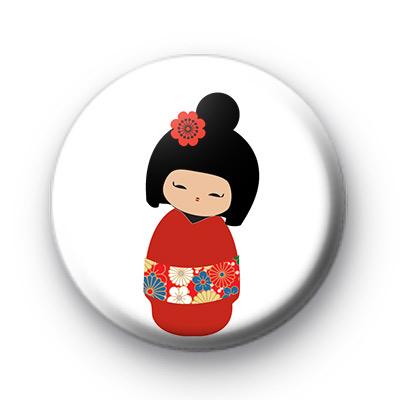 Cute Kawaii Asian Doll Button Badge