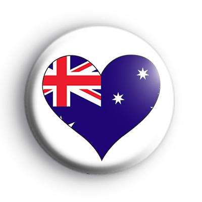 Australian Heart Flag Badge