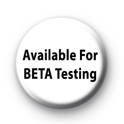 Available For BETA Testing Badges