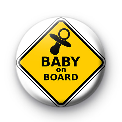 Baby On Board Pin Badge