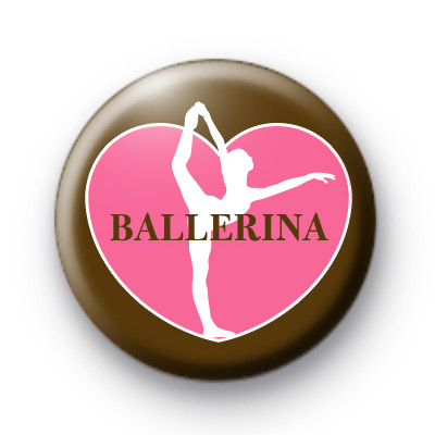 Ballerina Love Dance Button Badges