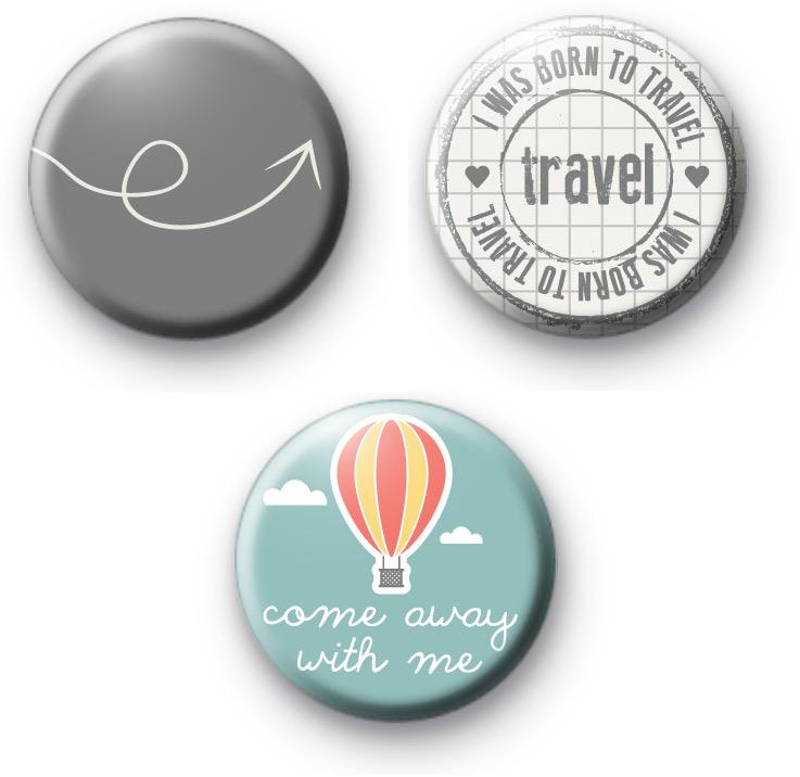 Set of 3 Holiday Badges