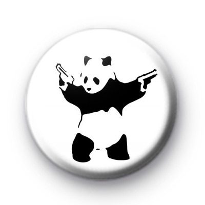 Banksy Panda Guns Badges