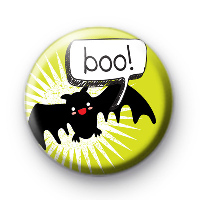 Bat BOO Button Badge