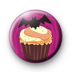 Evil Bat Cupcake Badge