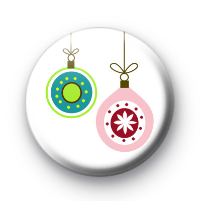 2 Festive Baubles Badge