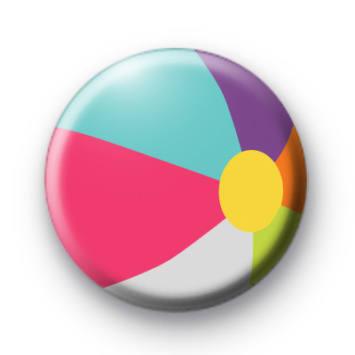 Beach Ball Button Badge