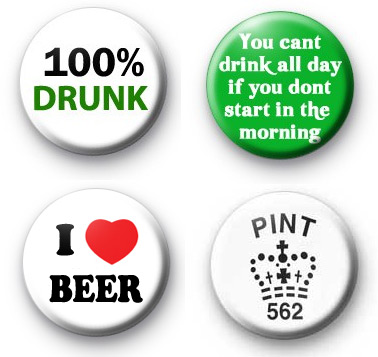 Set of 4 Beer Drinking Badge Pack