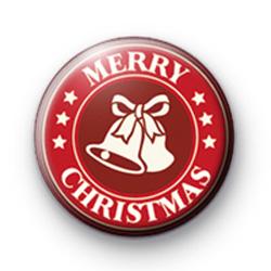 Festive Bells Merry Christmas Badges