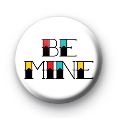 Be Mine Tattoo Style Font badge