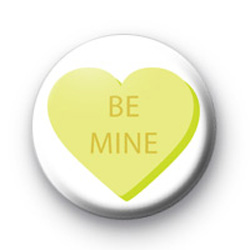 Be Mine Candy Heart badges