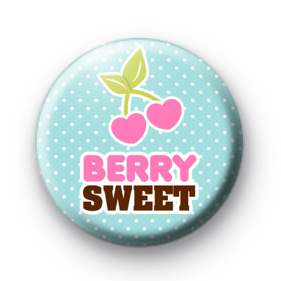 Berry Sweet Cherry Button Badge