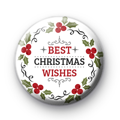 Best Christmas Wishes Button Badges