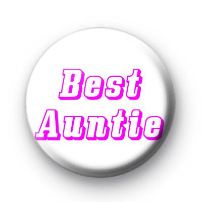 Best Auntie badge
