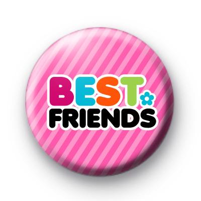 Pink Best Friends Button Badge