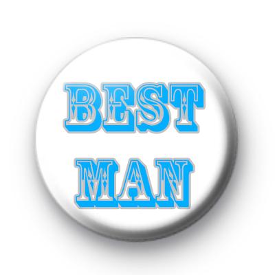Best Man Blue Custom badge
