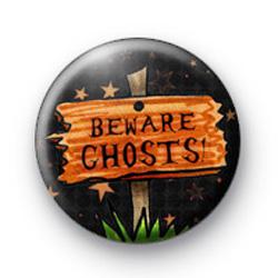 Beware Ghosts Halloween Badges