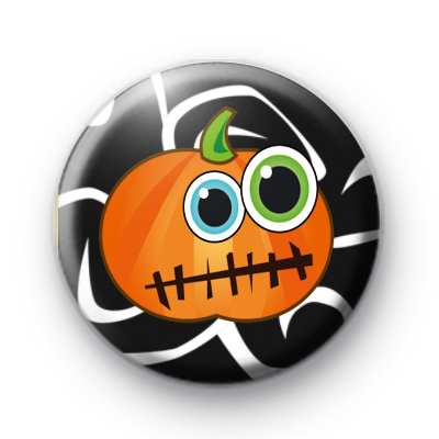 Wide Eyed Pumpkin Badge