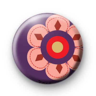 Big Purple Flower Badge