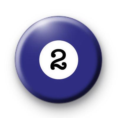 Billiard Ball Birthday Age Number 2 Badge