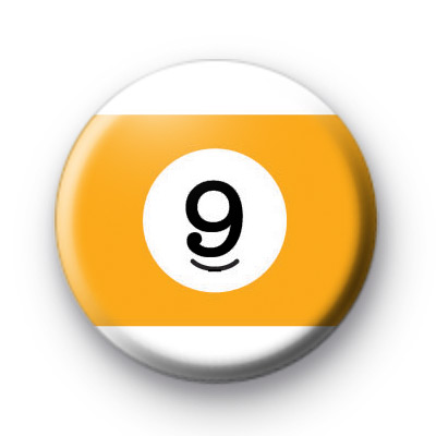 Billiard Ball Birthday Age Number 9 Badge