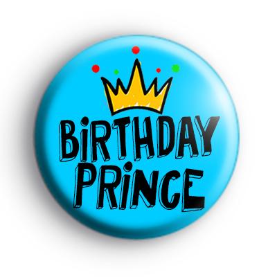 Birthday Prince Blue Badge