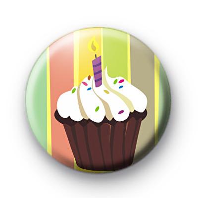Big Birthday Cupcake Badge