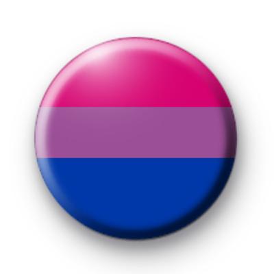 Bisexual Pride Rainbow Flag Badge