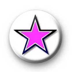 Black and Pink Star badges