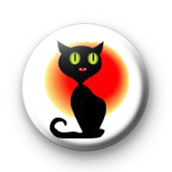 Black Cat button badges