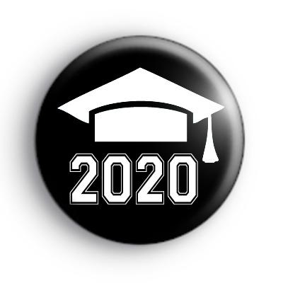 Black and White Graduate 2020 Badge