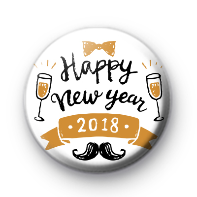 Happy New Year 2018 Party Badge