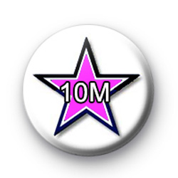 Black and pink star 10M Custom badge