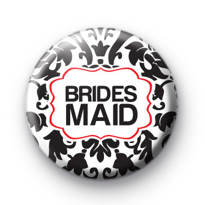 Black and Red Bridesmaid Badges