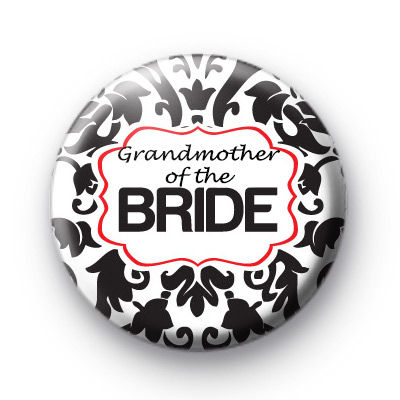 Black and red Grandmother of the bride badge