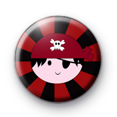 Black and Red Pirate Boy Badge