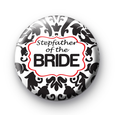 Black And Red Stepfather of the Bride badge