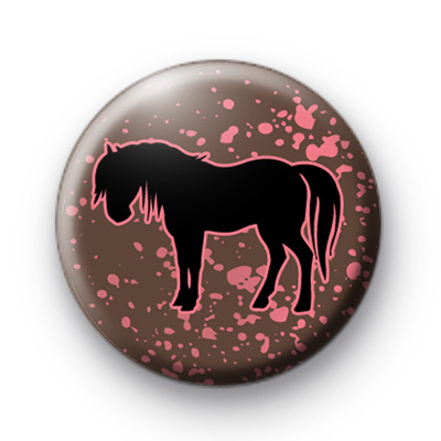Black Beauty Horse Button Badges