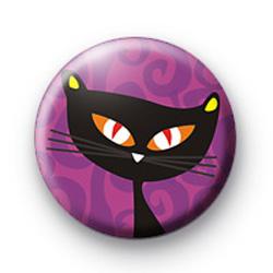 Black Cat Purple Badge
