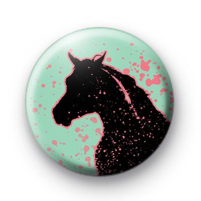 Black Horse Button Badges