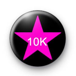 Pink Star on Black 10K Custom badge