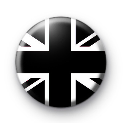Black Union Jack Button Badges