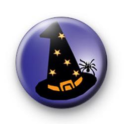 Black Witch Hat Badge