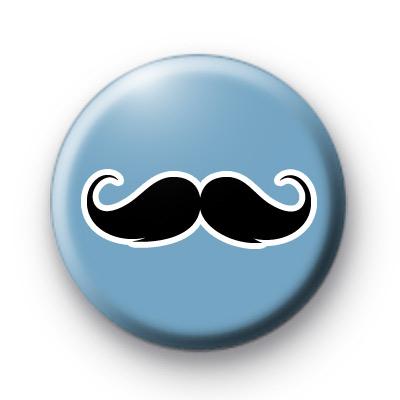 Blue Black moustache badges