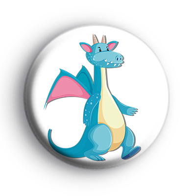 Blue and Pink Dragon Badge