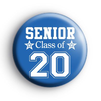 Blue Senior Class of 2020 School Leaver Badge
